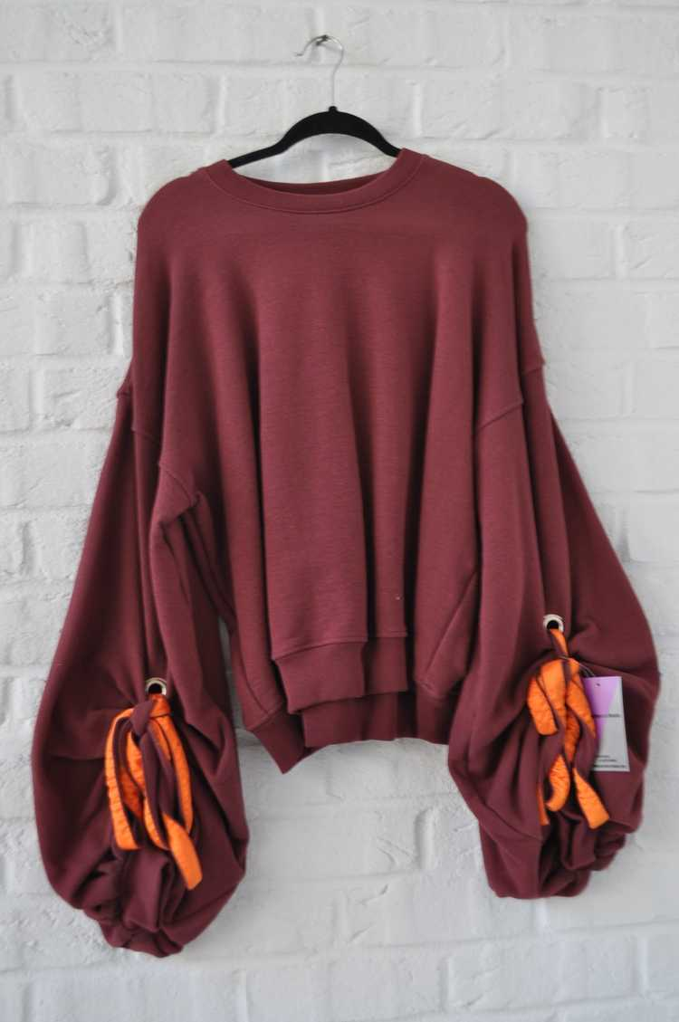 Y/ Project sweater with puffy sleeves - image 3