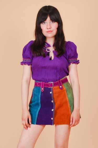 Vintage 1960's Violet Penny Lane Blouse