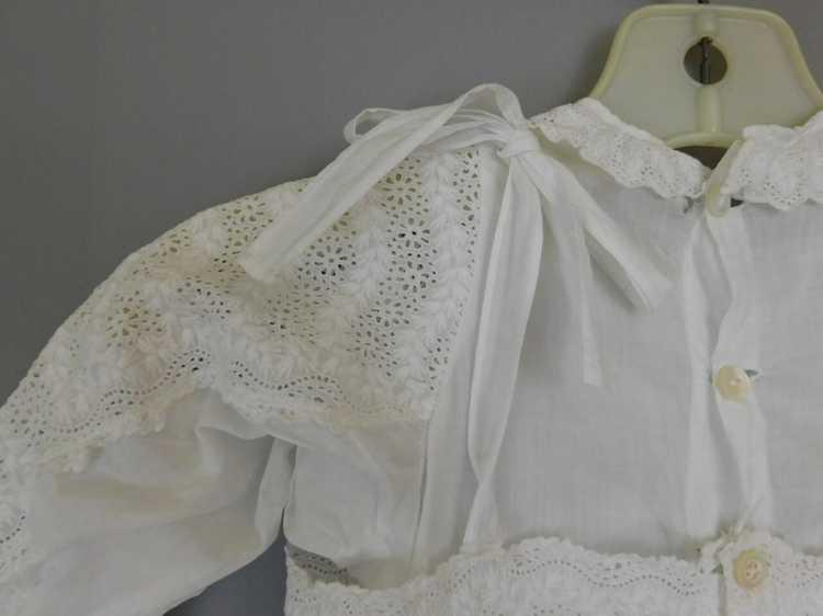Antique Edwardian Little Girl Dress, Embroidered … - image 10