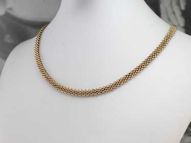 Victorian Rose Gold Chocker Chain