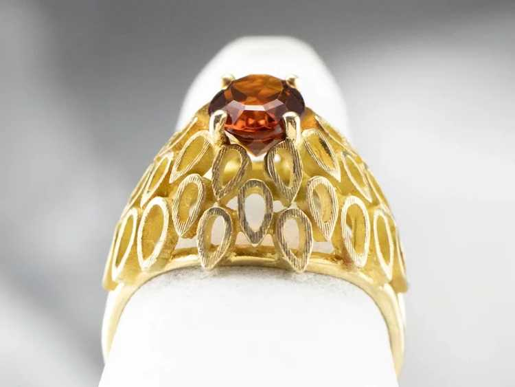 Funky Citrine Statement Ring - image 7