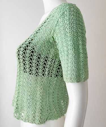 1930s Crochet Knit Blouse