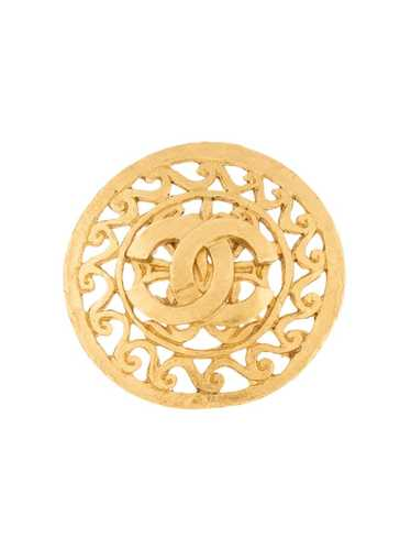 Chanel Pre-Owned 1995 CC filigree brooch - GOLD