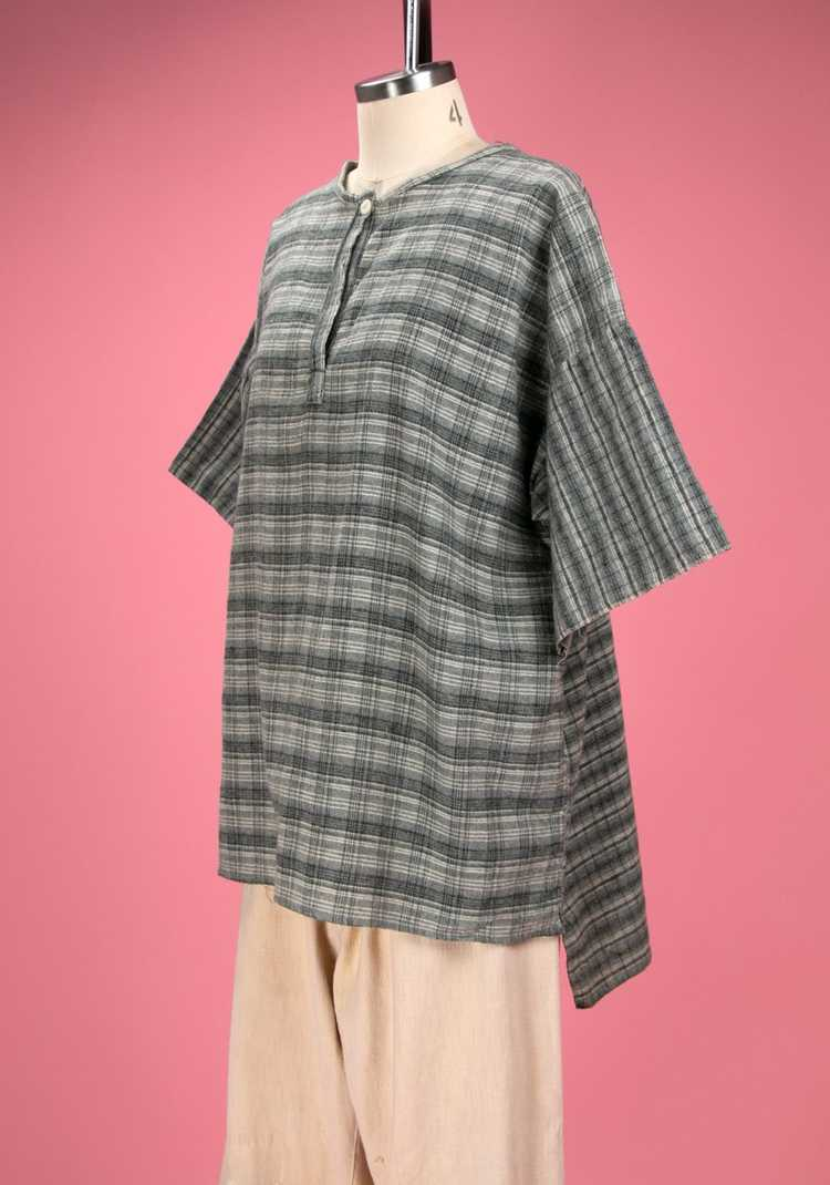 Antique / Early Vintage 1910's - 20's Grey Flanne… - image 5