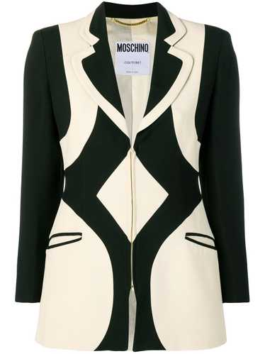 Moschino Pre-Owned 1990's graphic pattern blazer … - image 1
