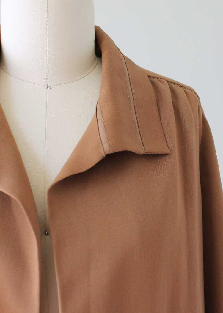 Vintage 1920s Brown Silk Day Dress with Duster Co… - image 13
