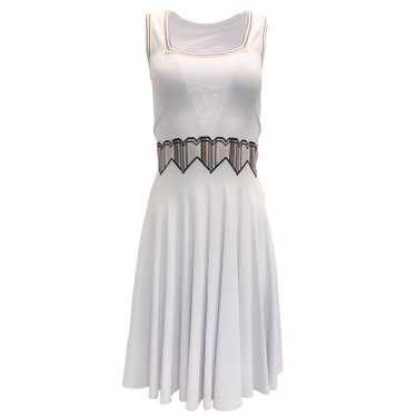 Alaia ALAÏA Light Lavender Heart Waist Dress