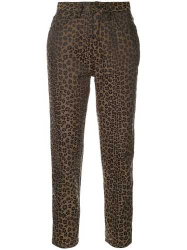 Fendi Pre-Owned leopard pattern long pants - Brown
