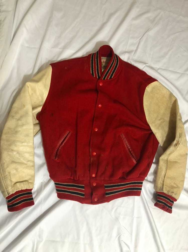 Vintage 60s Red Varsity Jacket - image 1