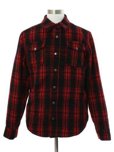 1990's Mens Fleece Wool Blend Shirt Jacket - image 1