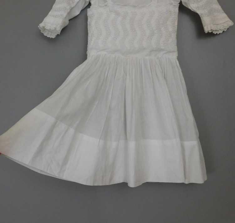 Antique Edwardian Little Girl Dress, Embroidered … - image 5