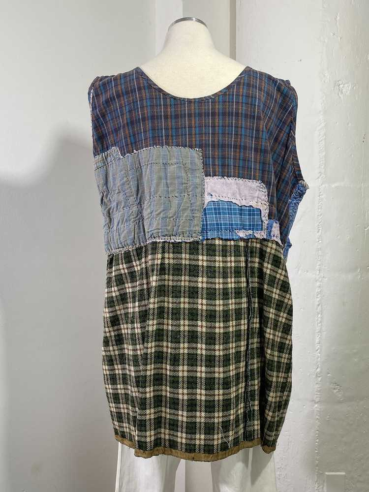 1960s-70s French Patchwork Peasant Dress - Lg. - image 6