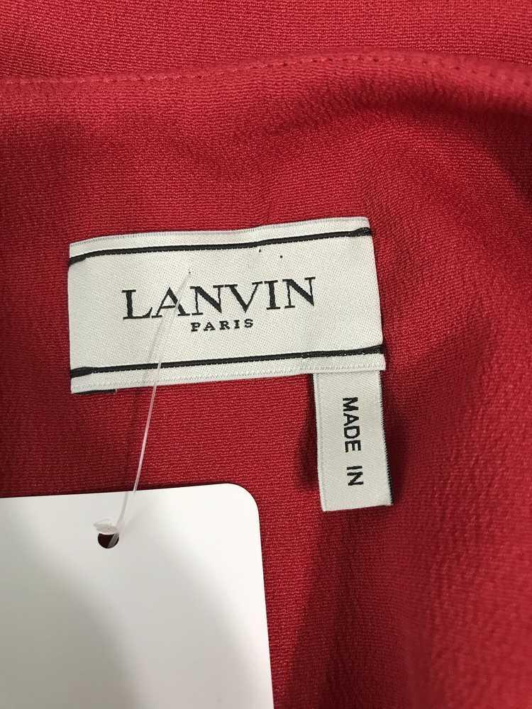 Lanvin Cherry Red Silk Blend Crepe Chemise Dress - image 10