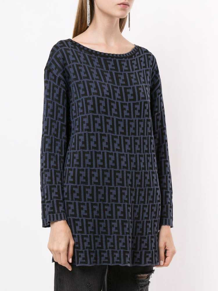Fendi Pre-Owned Zucca pattern knitted top - Black - image 3