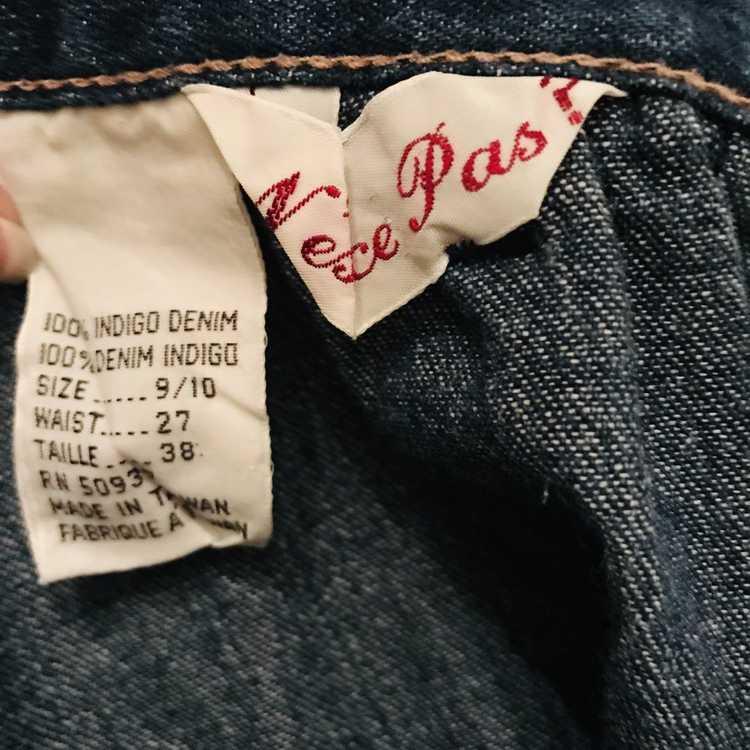 Vintage N'est-ce Pas? Denim Skirt with Ruffle - image 8