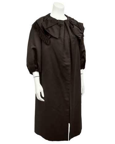 Holt Renfrew Brown Satin Opera Coat