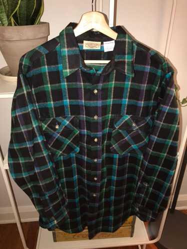 Vintage Vintage 90's Heavy Weight Flannel Button U