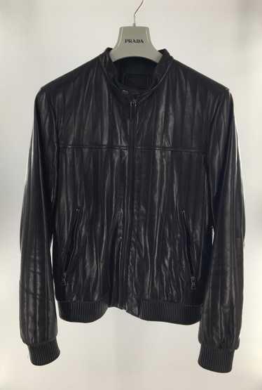 Prada Prada Quilted Leather Biker Jacket 40 Medium