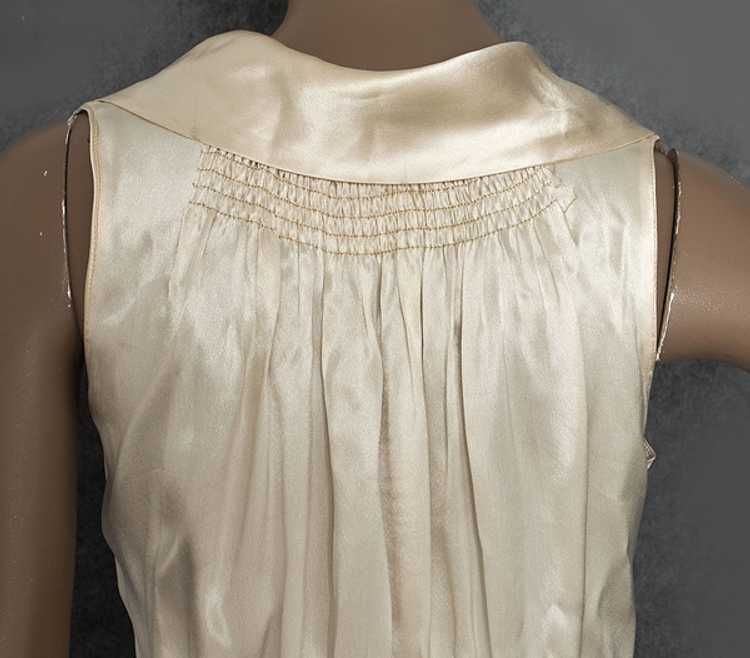 Hollywood style, bias-cut charmeuse nightgown, 19… - image 5