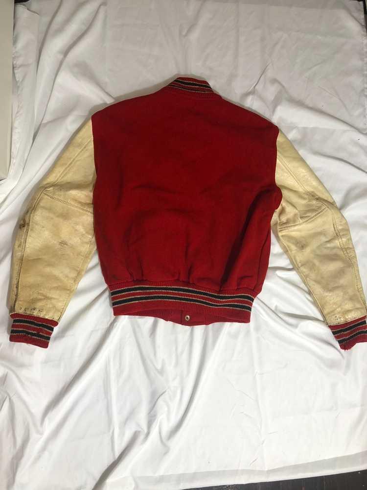 Vintage 60s Red Varsity Jacket - image 2