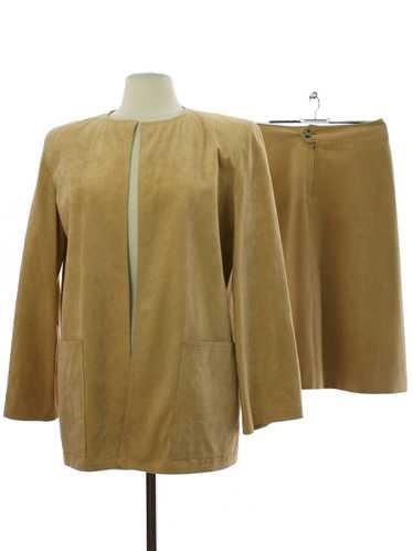 1970's I. Magnin I. Magnin UltraSuede Skirt Suit