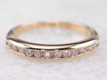 Gold Channel Set Diamond Band