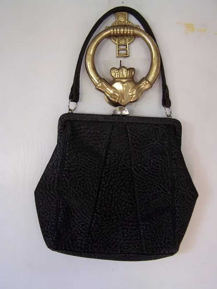 Town and Country Black Leather Handbag - image 2