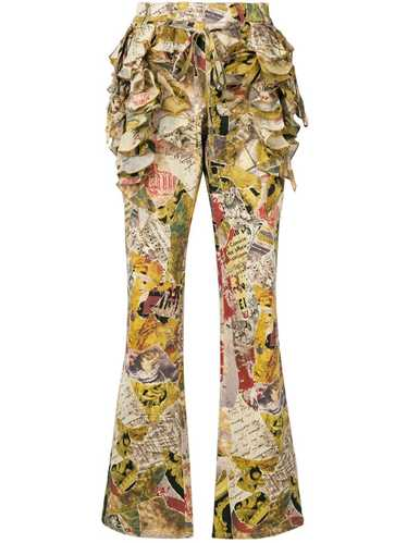 Moschino Pre-Owned ruffled patchwork-print flared