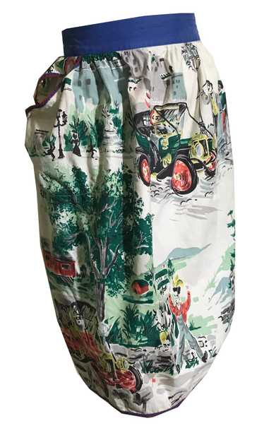 Town and Country Novelty Print Cotton Apron circa