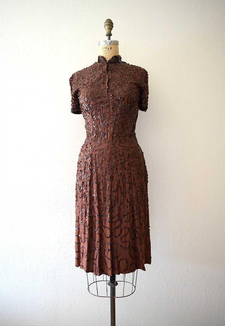 1940s Ceil Chapman dress . vintage sequin dress - image 2