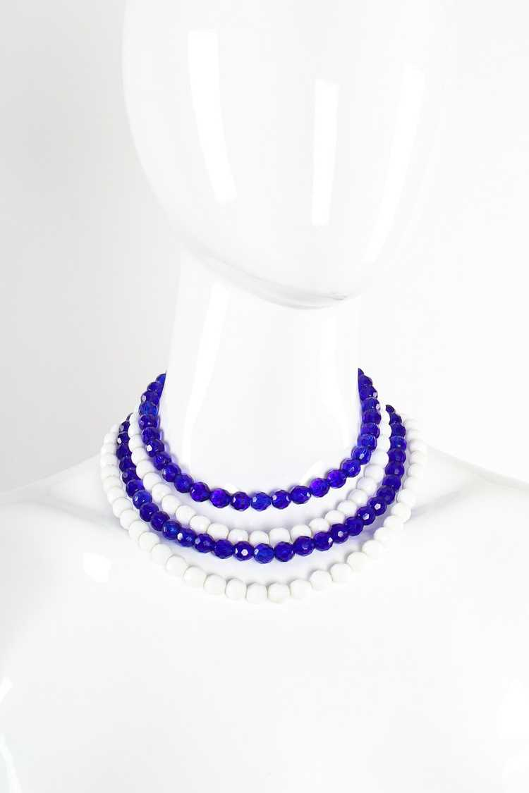 ARNOLD SCAASI Multi-Strand Cabochon Bead Collar - image 2