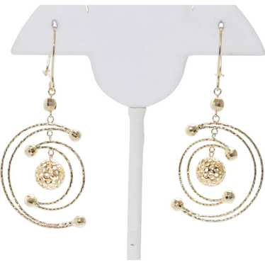 Gorgeous 14KT Yellow Gold Moon Earrings