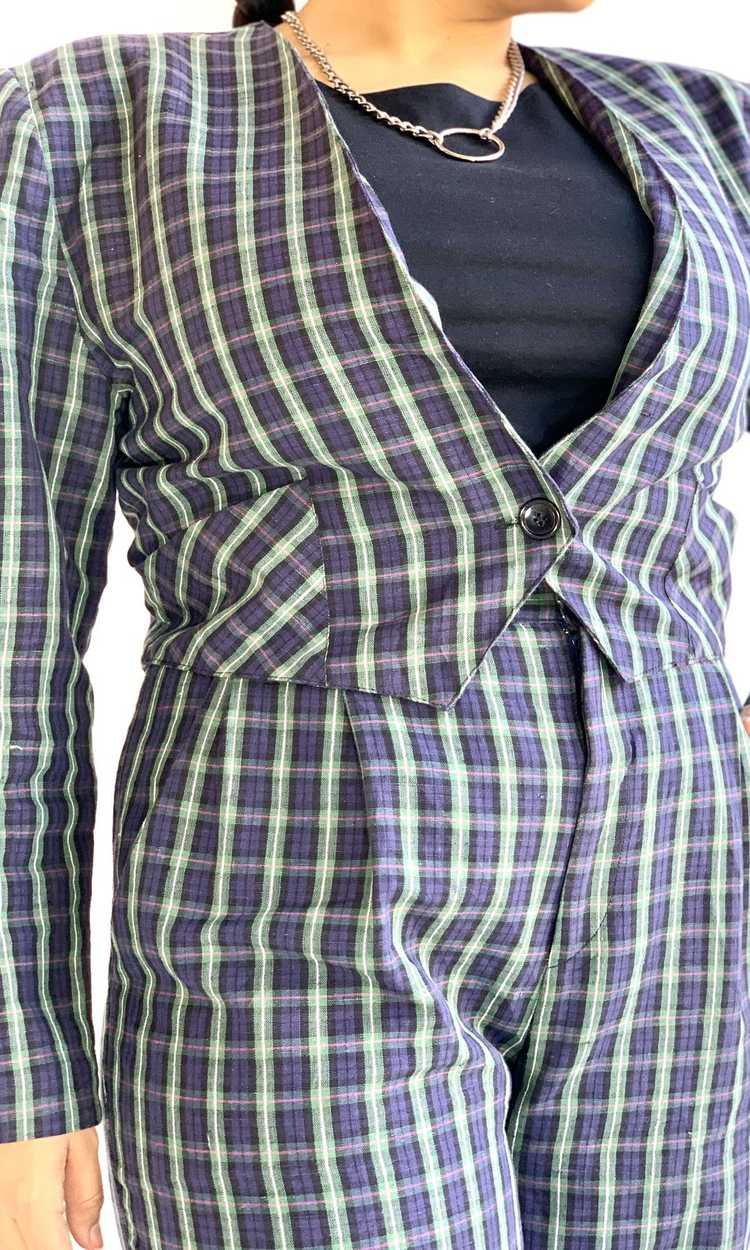 Plaid Linen Suit Set - image 3