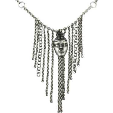 Vintage Thierry Mugler Face Mask Necklace