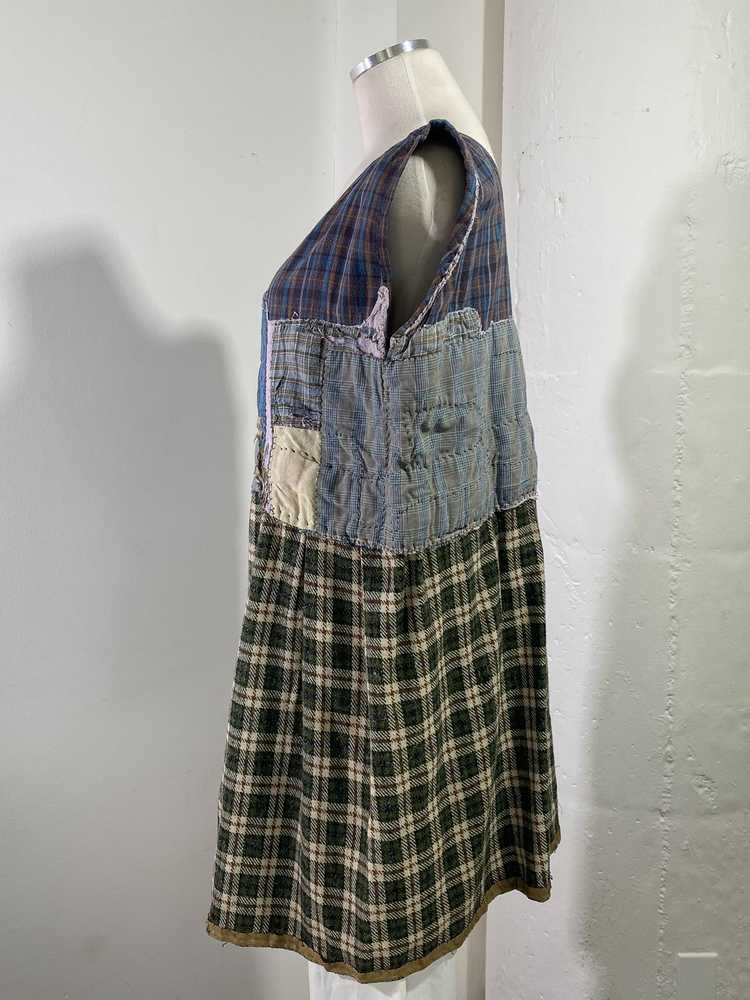 1960s-70s French Patchwork Peasant Dress - Lg. - image 5