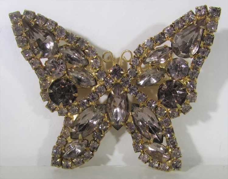 Vintage Dusty Rose Crystal Butterfly - image 5