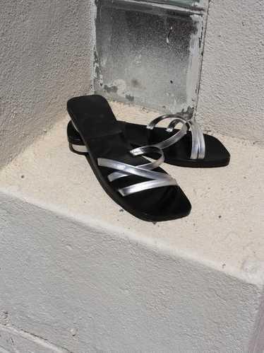 Silver Minimalist Sandals (7.5)