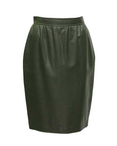 Ungaro Green Leather Skirt