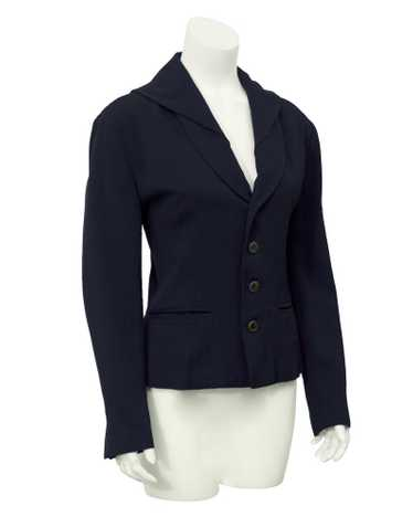 Matsuda Black Jacket with Embroidered Collar