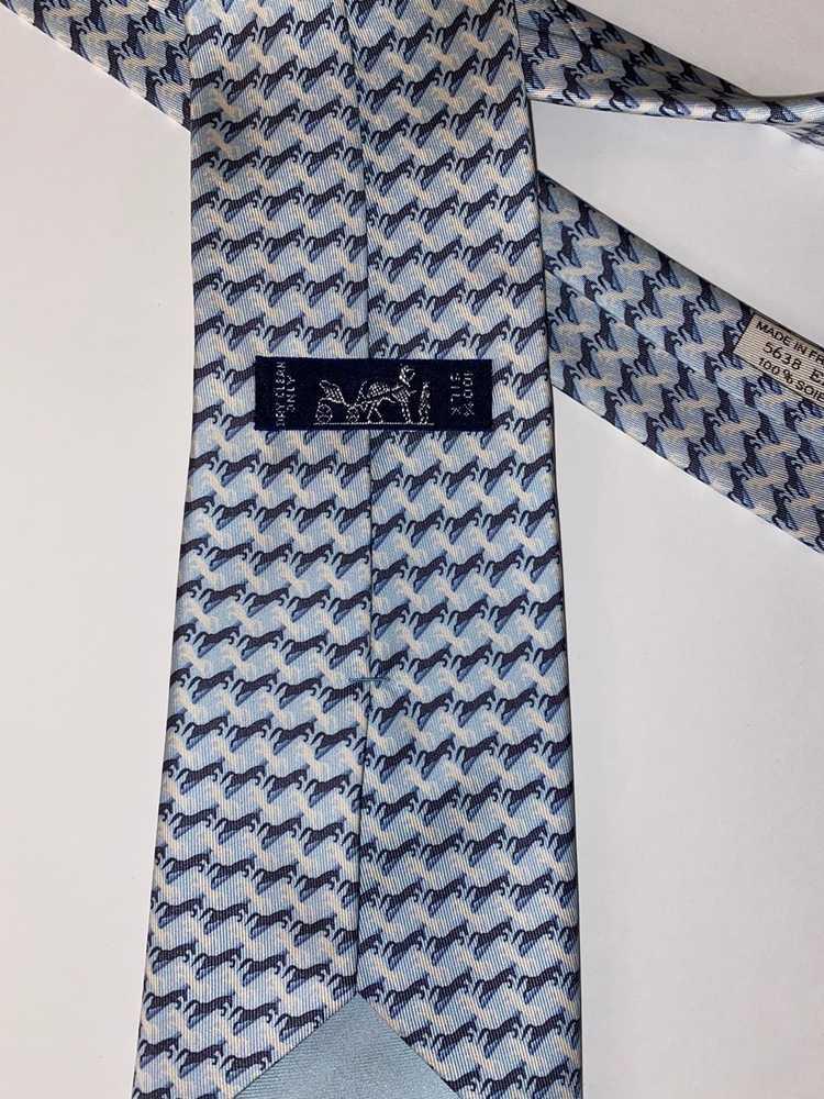 Hermes × Vintage Vintage RARE Hermés Horse Tie - image 4