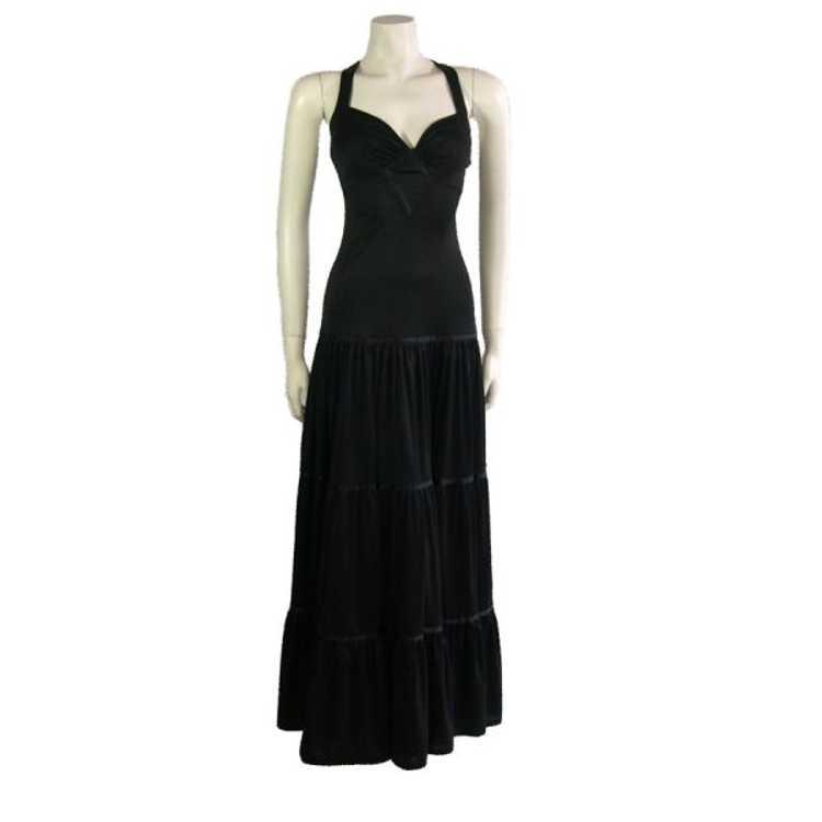 Vintage Black Radley Dress 1970s - image 1