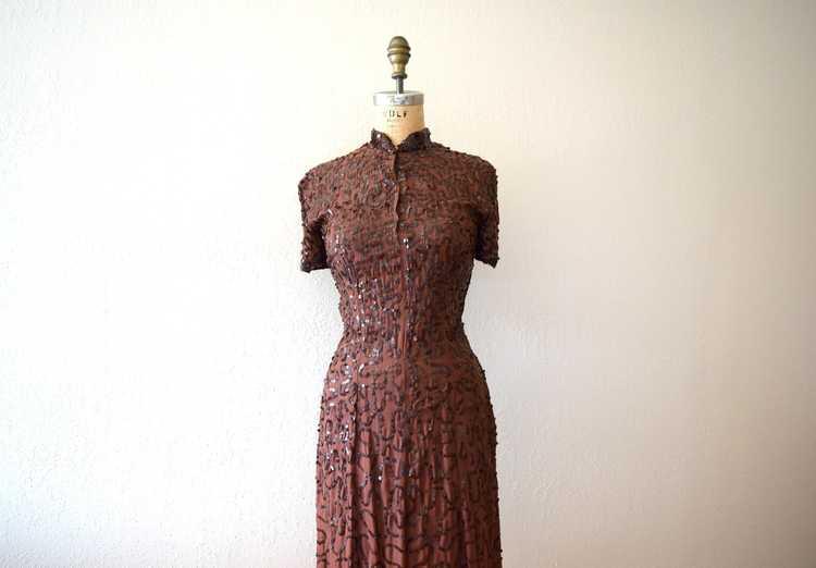 1940s Ceil Chapman dress . vintage sequin dress - image 1