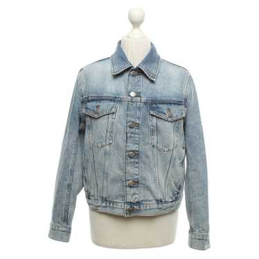 Arket Jacket/Coat Cotton in Blue