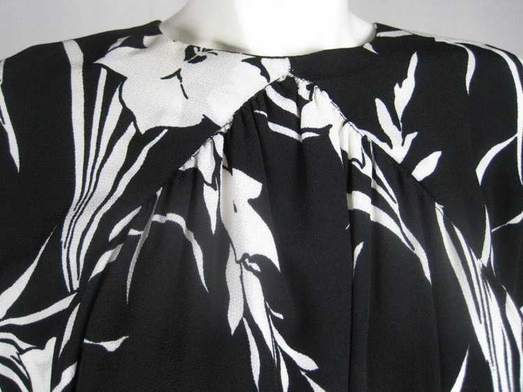 1980's Dress Graphic Floral Vintage - image 3