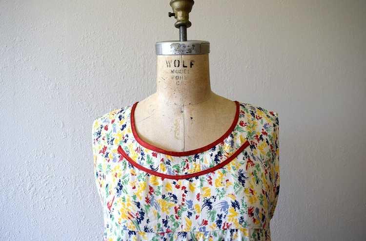 1920s rainbow print dress . vintage 20s dress - image 2