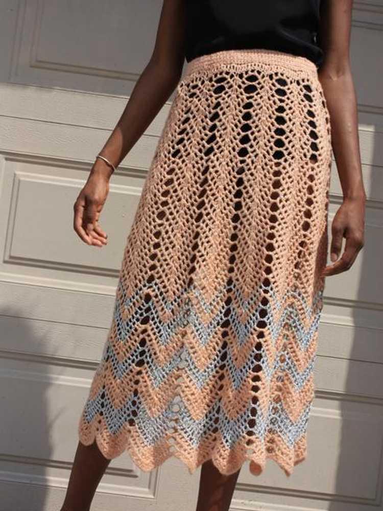 Metallic Crochet Skirt - image 3