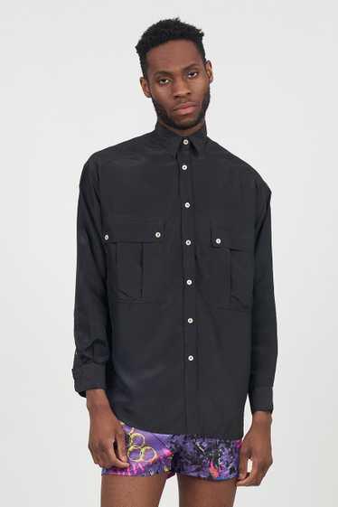 Vintage Black 90's Satin Black Emporio Armani Shir