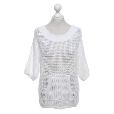 Armani Hole knit sweater in white