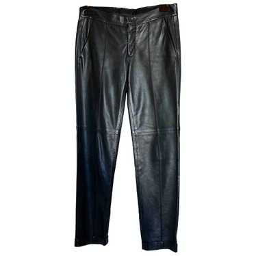 Gucci Black Leather Trousers for Women 40 IT