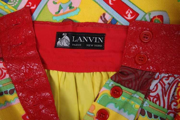 1970's Lanvin 'Buddha' Theme Maxi Skirt - image 6